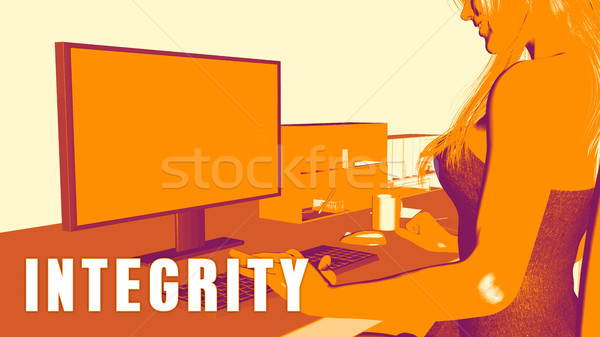 Integrity Concept Course Stock photo © kentoh
