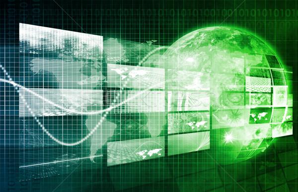üzleti elemzés projekt absztrakt üzlet munka technológia Stock fotó © kentoh