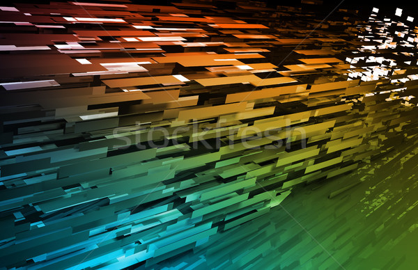 Abstract internet business wereld achtergrond Stockfoto © kentoh