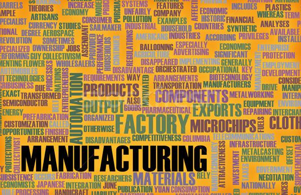 Fabrication machines processus construction design fond Photo stock © kentoh