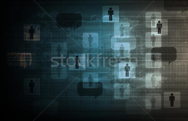 Сток-фото: интегрированный · решения · веб · интернет · крест