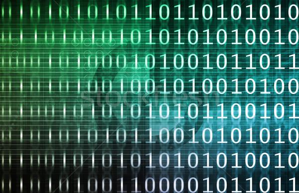 двоичный технологий потока аннотация связи программное Сток-фото © kentoh