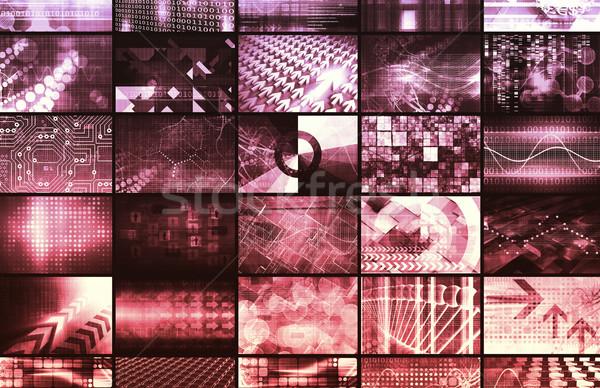 Sécurité réseau grille affaires modèle Photo stock © kentoh