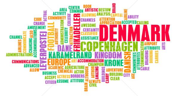 Denemarken land abstract kunst business achtergrond Stockfoto © kentoh