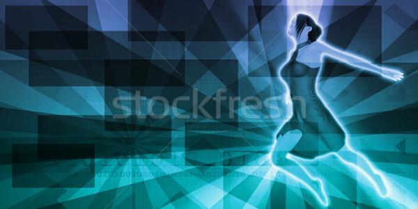 Buli trance zene koncert háttér diszkó Stock fotó © kentoh