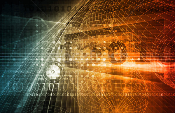 Telecommunicatie netwerk alle wereld kunst technologie Stockfoto © kentoh