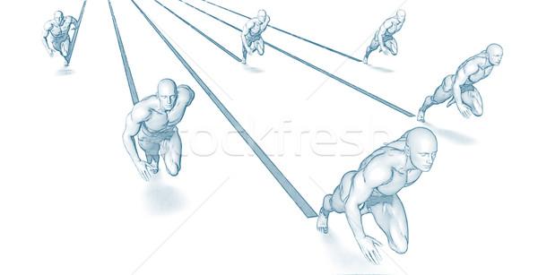 Concept of Teamwork Stock photo © kentoh