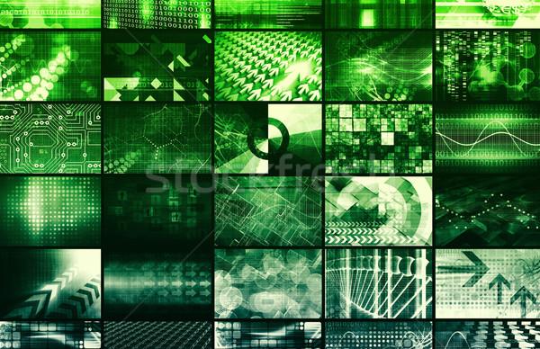 Entegre yönetim teknoloji ağ Internet soyut Stok fotoğraf © kentoh