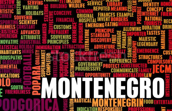 モンテネグロ 国 抽象的な 芸術 ビジネス 食品 ストックフォト © kentoh