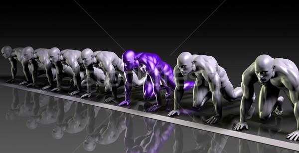 Futurisztikus tudomány verseny országok cégek absztrakt Stock fotó © kentoh