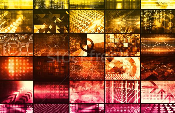 Security Network Grid Stock photo © kentoh
