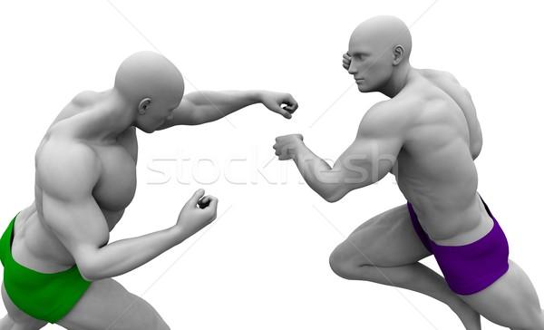 воин дух мужчин бизнеса фитнес Сток-фото © kentoh