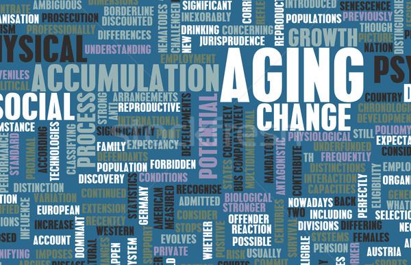 старение растущий старший аннотация человек поддержки Сток-фото © kentoh