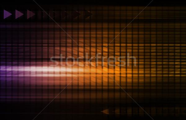 Abstract Network Illustration Stock photo © kentoh