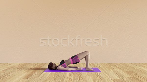 Stock photo: Yoga Class Bridge Pose