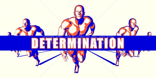 Determinazione concorrenza illustrazione arte sfondo arancione Foto d'archivio © kentoh