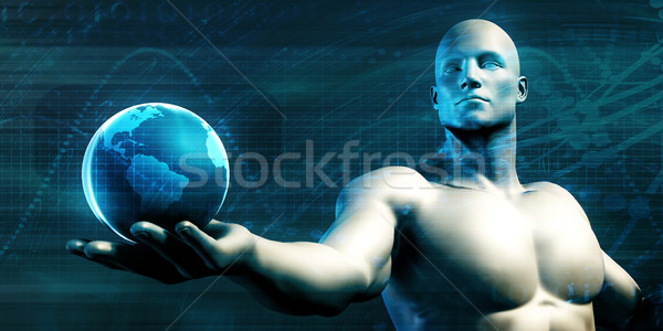 Világszerte technológia tömeg örökbefogadás új technológiák Stock fotó © kentoh