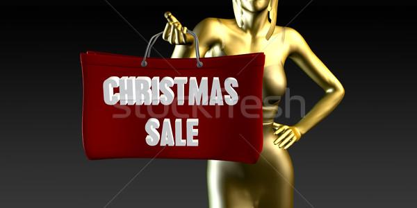 Natale vendita vendite evento speciale nero sorridere Foto d'archivio © kentoh