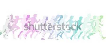 Cardio treinamento exercer grupo classe ilustração Foto stock © kentoh