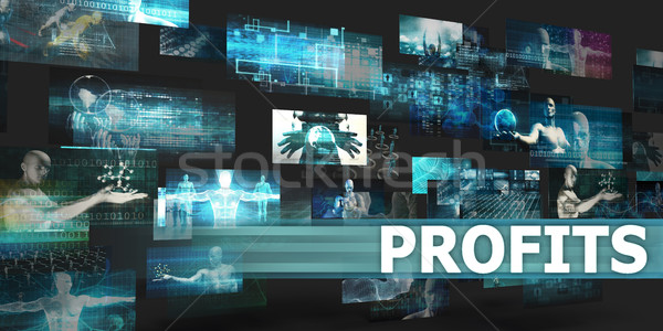 Presentatie technologie abstract kunst business Stockfoto © kentoh