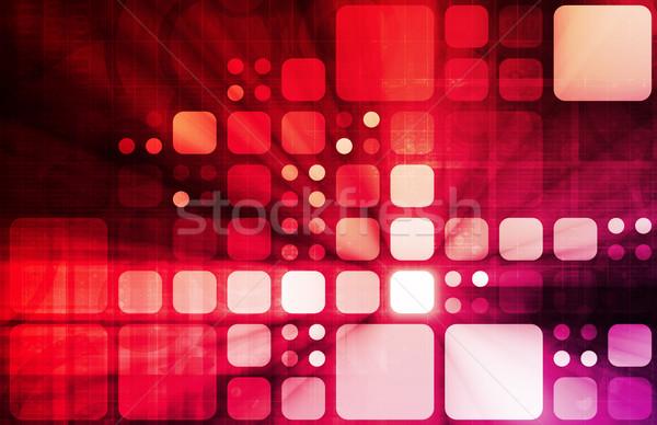 Orvostudomány futurisztikus technológia üzlet internet absztrakt Stock fotó © kentoh
