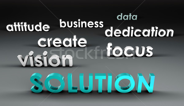 Solution at the Forefront Stock photo © kentoh