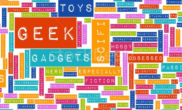 Geek kültür sanayi film oyuncak komik Stok fotoğraf © kentoh