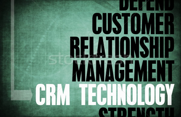 Crm technologie kern principes business retro Stockfoto © kentoh