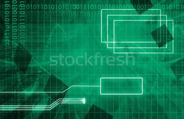 üzlet integráció porta hálózat eladó művészet Stock fotó © kentoh