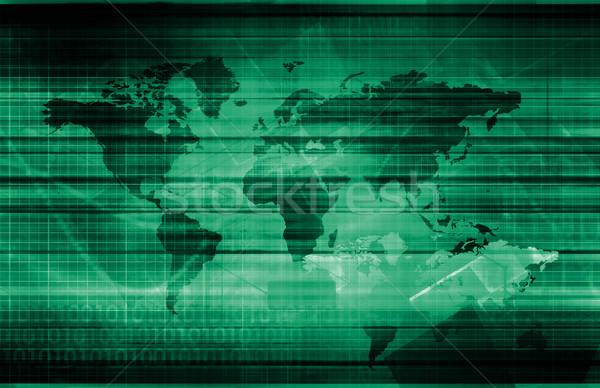 Gegevens integratie netwerk globale schaal business Stockfoto © kentoh