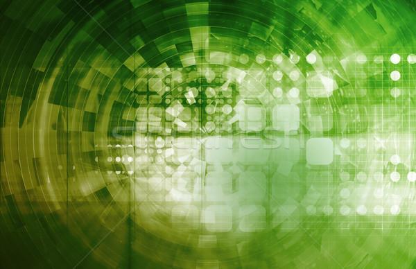Virtuális technológia modern üzlet internet absztrakt Stock fotó © kentoh