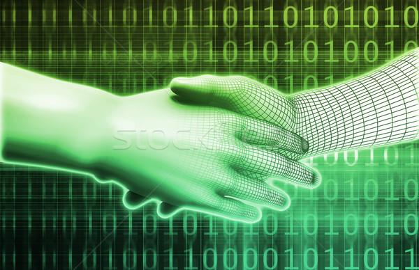 электронной коммерции электронных торговли онлайн интернет аннотация Сток-фото © kentoh
