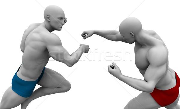 Gemengd vechtsporten opleiding achtergrond sport contact Stockfoto © kentoh