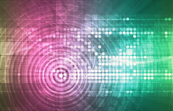 Technologii streszczenie tekstury dance przestrzeni klub Zdjęcia stock © kentoh