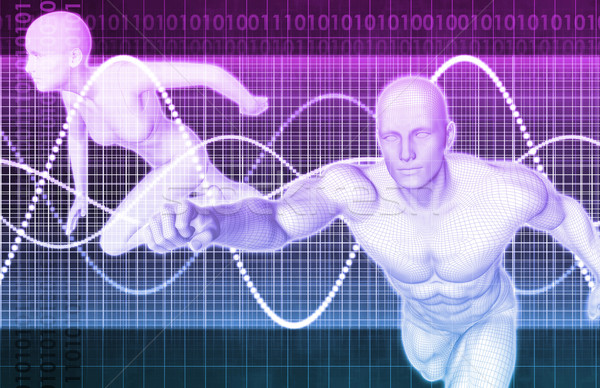 Deportes medicina fitness analítica salud ejecutando Foto stock © kentoh