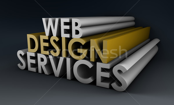 Web design services internet design web société Photo stock © kentoh