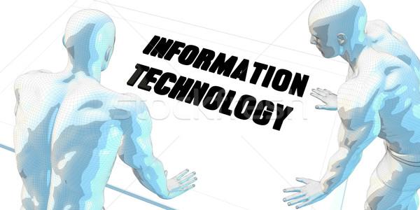 Tecnología de la información debate reunión de negocios arte reunión fondo Foto stock © kentoh