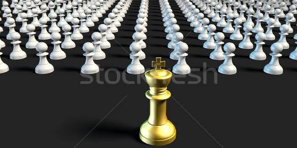 Business schaken strategie koning leger achtergrond Stockfoto © kentoh