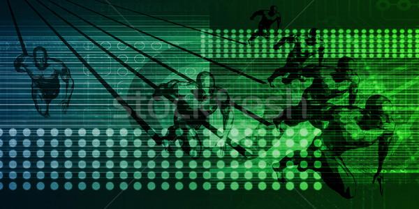 Foto stock: Próximo · geração · tecnologia · raça · internet · serviço