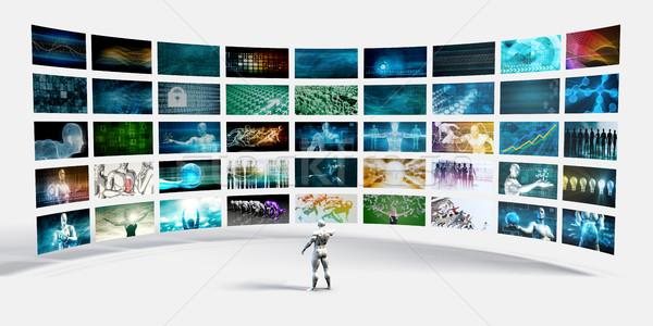 Video Screens Wall Stock photo © kentoh