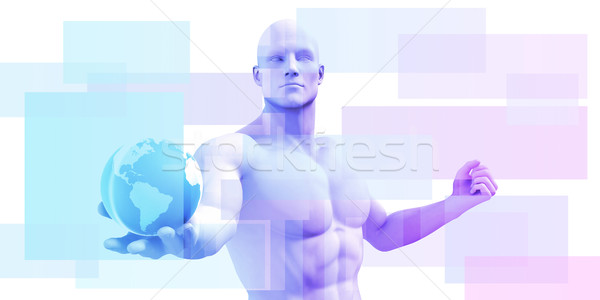 бизнеса интеллект передовой аналитика человека Сток-фото © kentoh