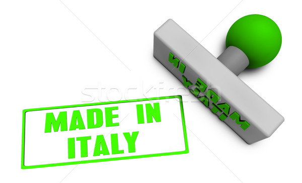 Made in Italy Stamp Stock photo © kentoh