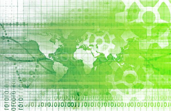 Сток-фото: интегрированный · решения · веб · интернет · карта