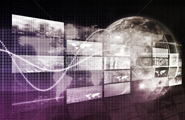 Veiligheid netwerk gegevens web internet Stockfoto © kentoh