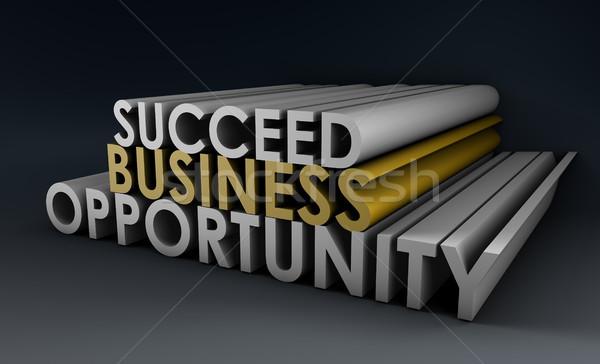 Business Gelegenheit müssen Zeichen Finanzierung Kommunikation Stock foto © kentoh