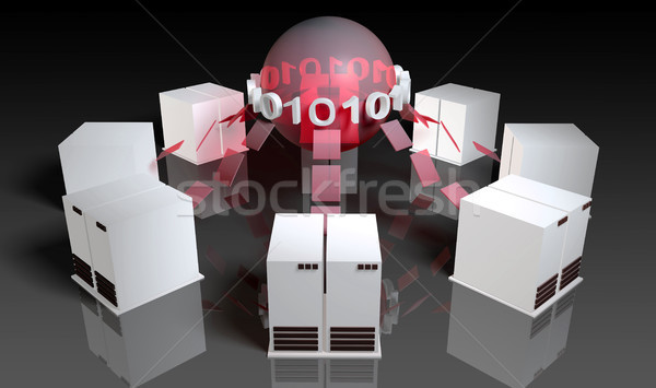 Veritabanı Sunucu yönetim merkezi teknoloji bilgisayarlar Stok fotoğraf © kentoh