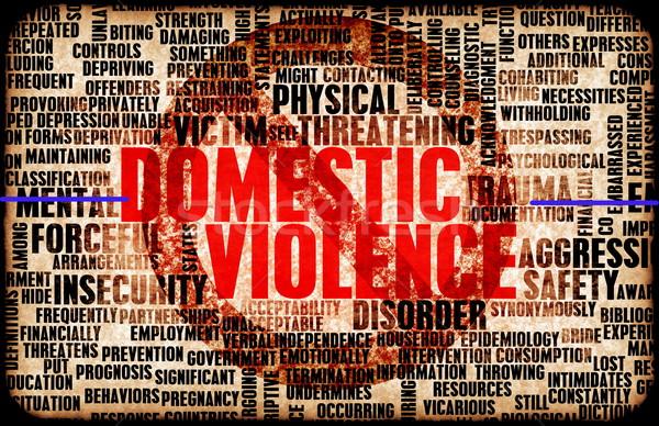家庭内暴力 虐待 標識 暴力 犯罪 安全 ストックフォト © kentoh