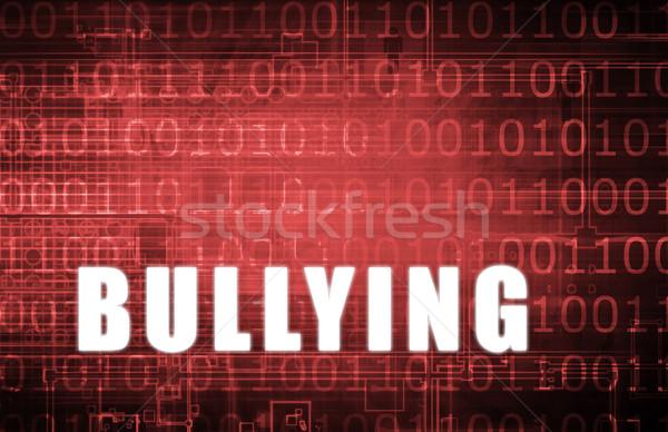 Megfélemlítés digitális bináris figyelmeztetés absztrakt számítógép Stock fotó © kentoh