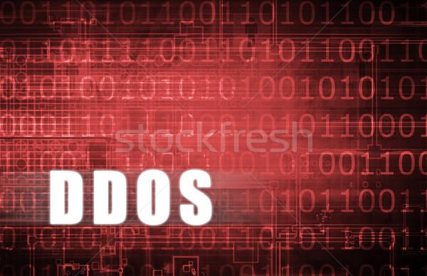 Digitális bináris figyelmeztetés absztrakt hálózat háló Stock fotó © kentoh
