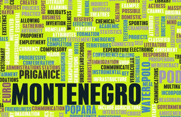 Monténégro pays résumé art affaires football Photo stock © kentoh